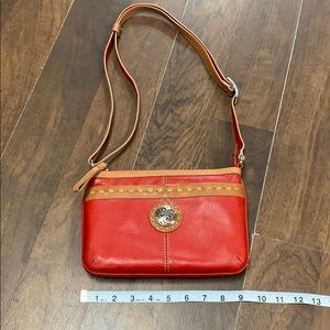 Brighton red leather bag